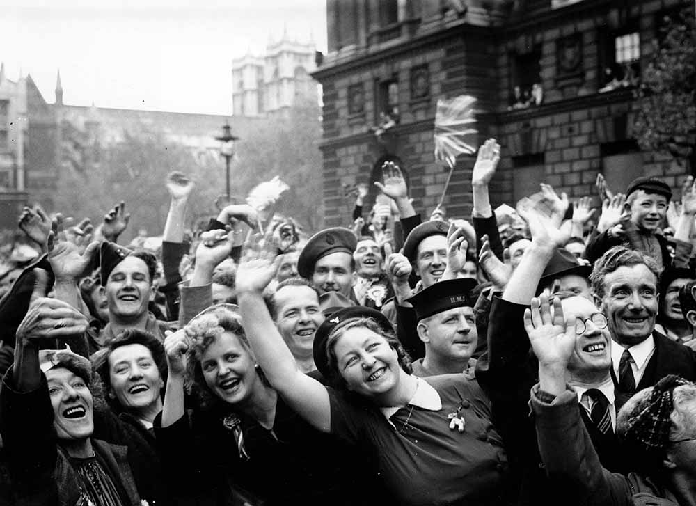 Victory In Europe Day Crowds In Whitehall fine art photography