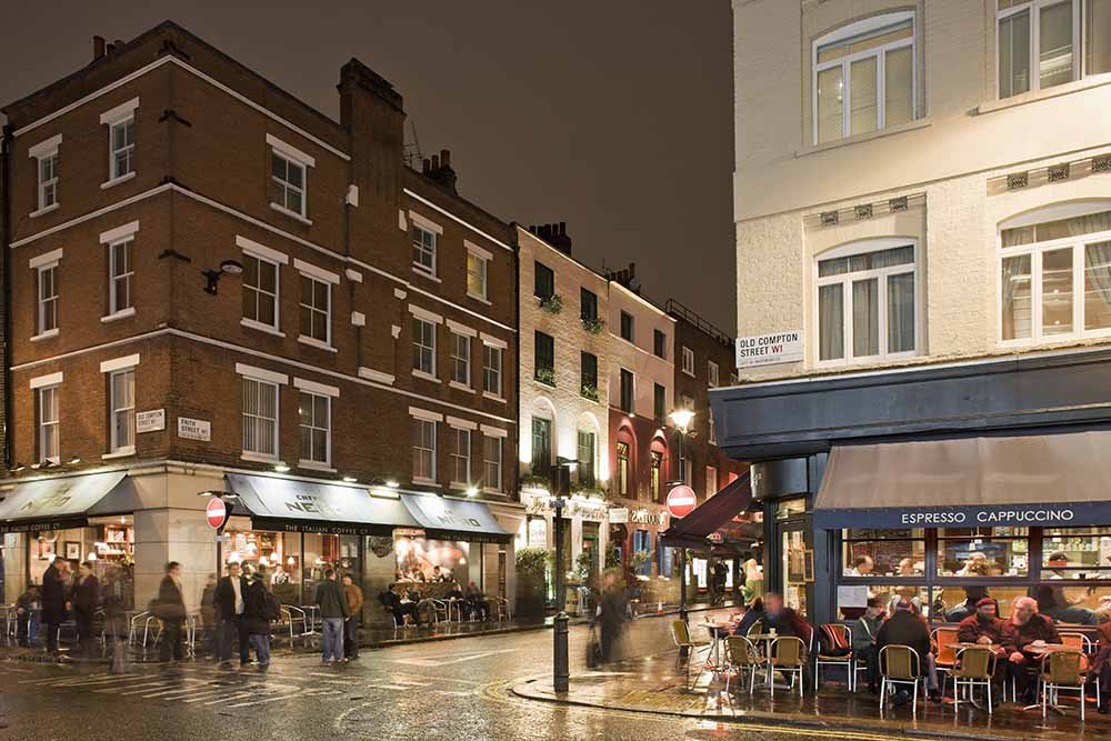 UK, London, West End, Old Compton Street at dusk fine art photography