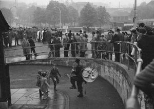 Busker Outside Wembley Stadium