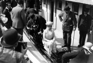 Queen Mary travelling on a miniature