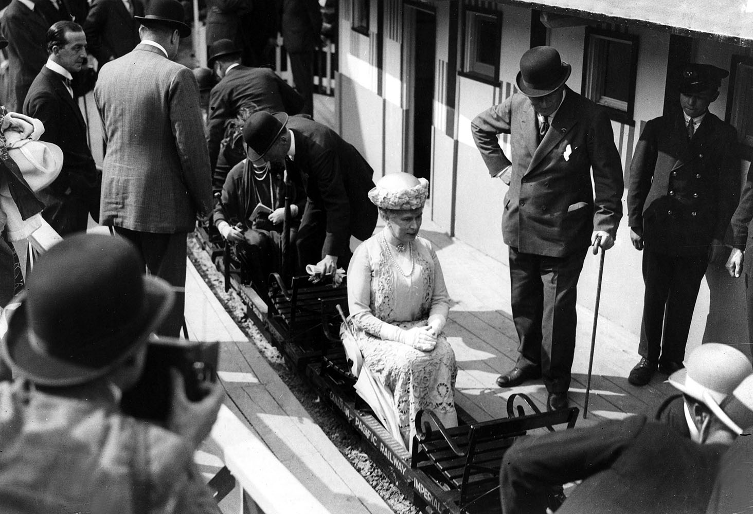 Queen Mary travelling on a miniature fine art photography