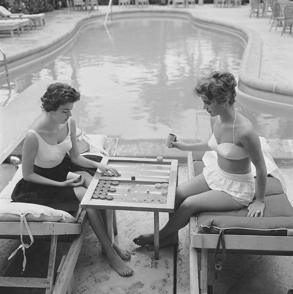 Backgammon By The Pool fine art photography
