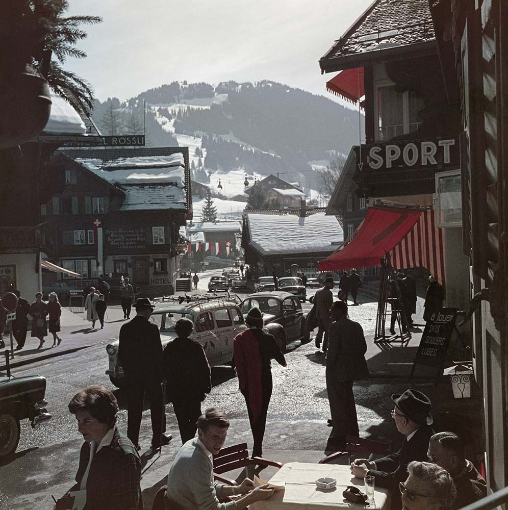 Gstaad Town Centre fine art photography