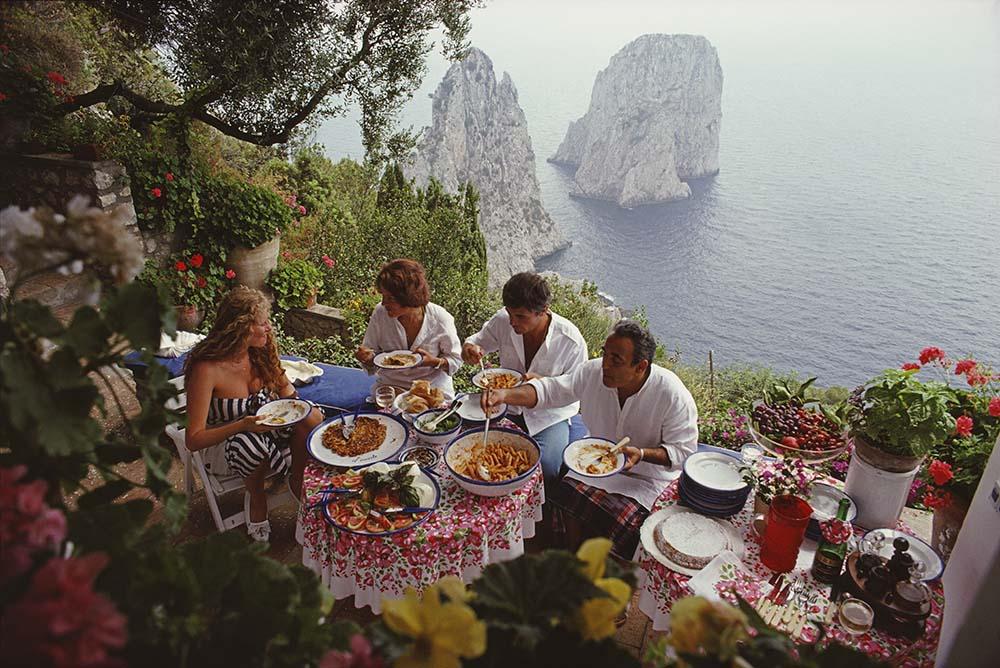 Dining Al Fresco On Capri fine art photography