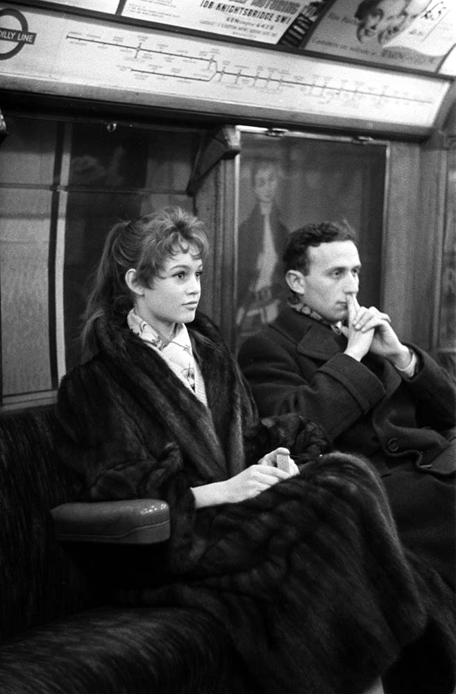 Brigitte Bardot on the London Underground fine art photography