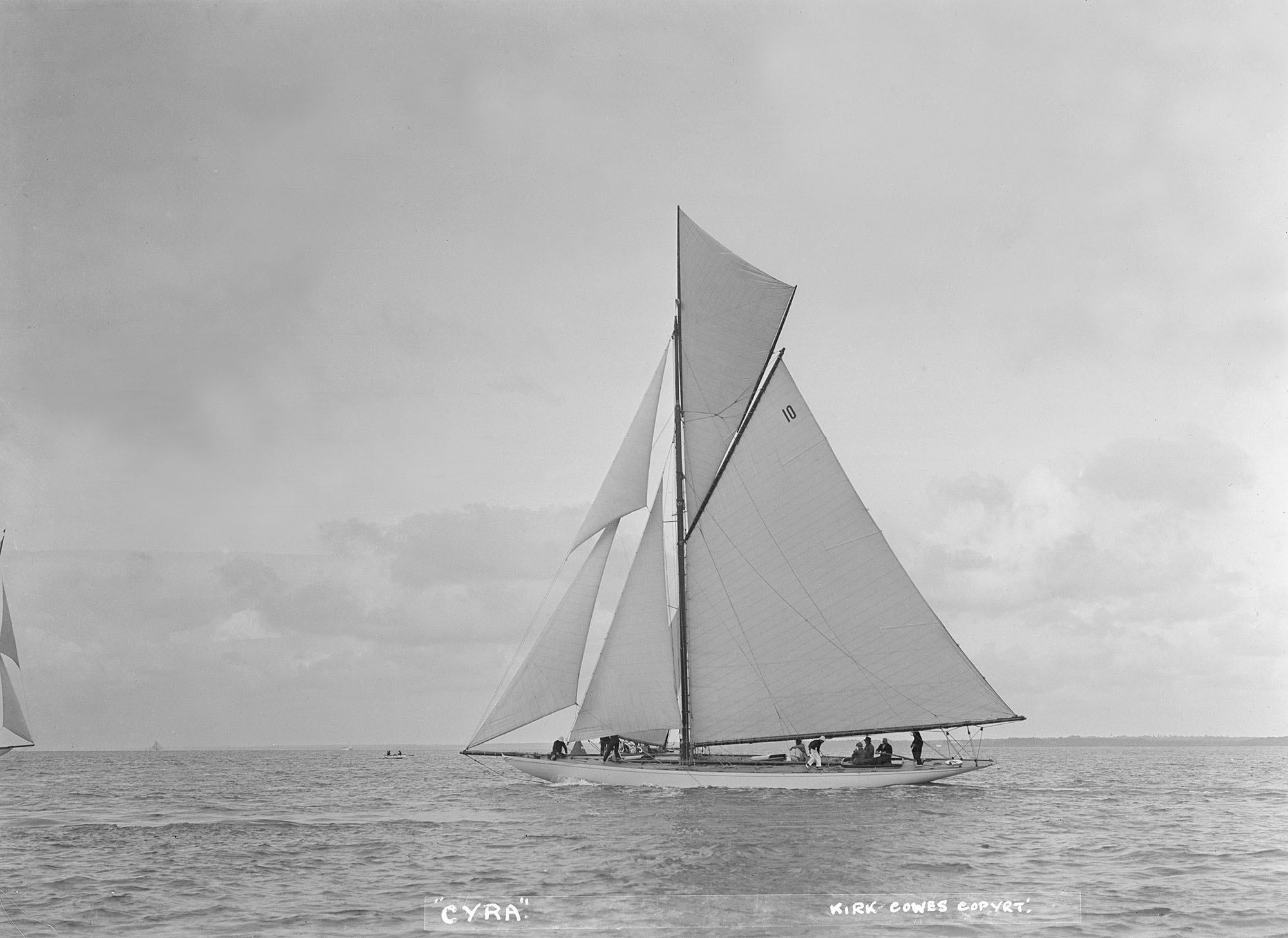 The 12 Metre Gaff Rigged Cyra fine art photography