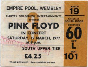 Pink Floyd Concert Ticket