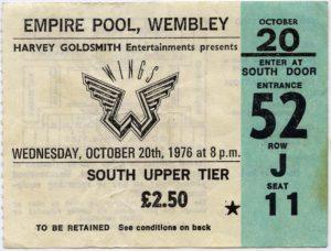 Wings Concert Ticket