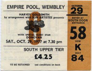 Yes Concert Ticket