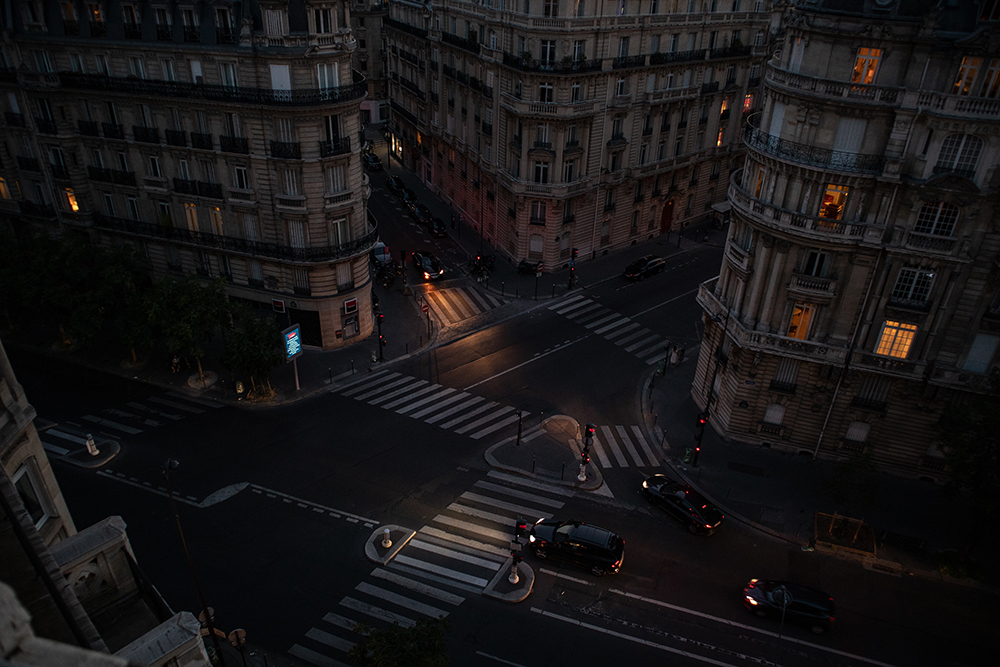 High Angle View Of Traffic On City Street fine art photography