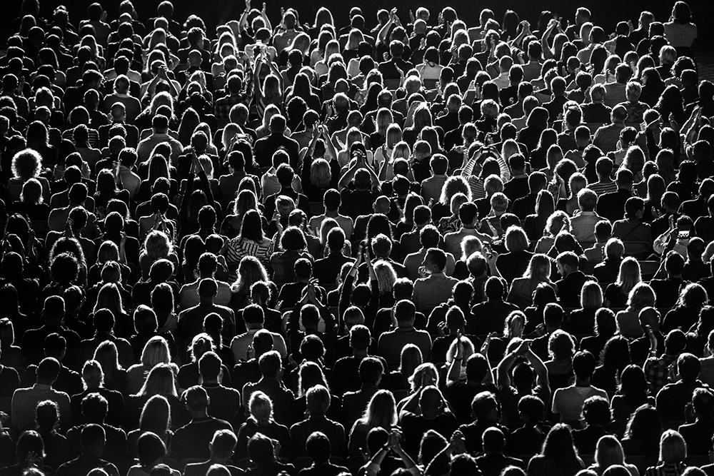 Full Frame Shot Of Crowd At Music Concert fine art photography