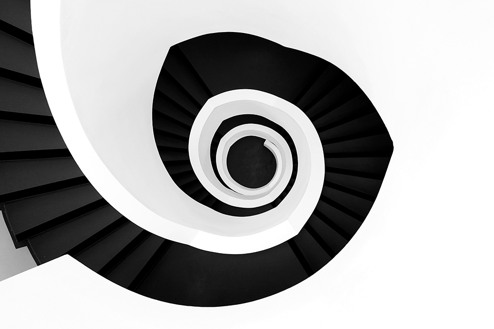 High Angle View Of Spiral Staircase fine art photography