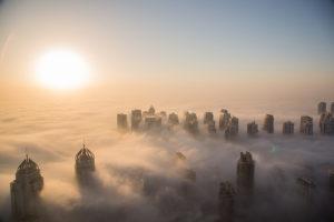 The Foggy Dubai Skyline
