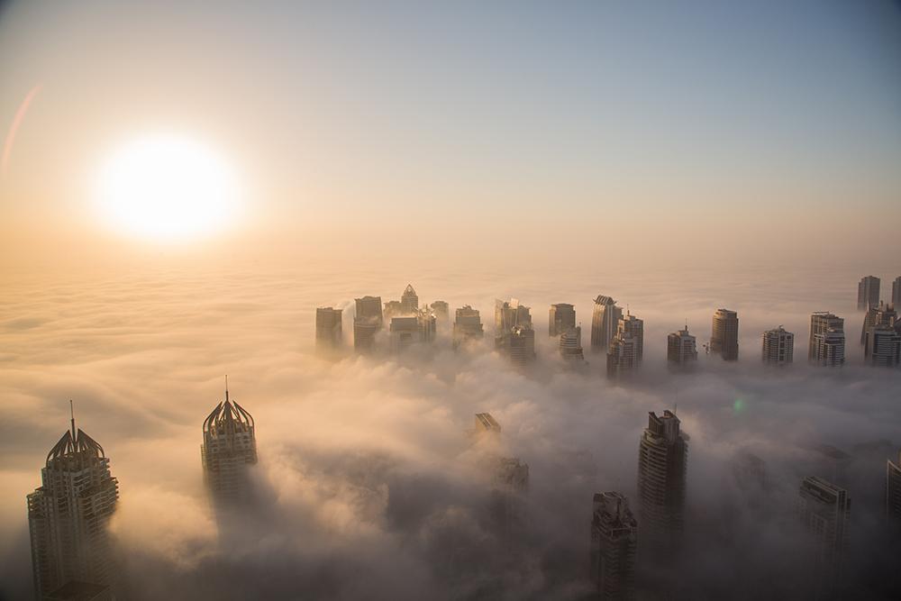 The Foggy Dubai Skyline fine art photography