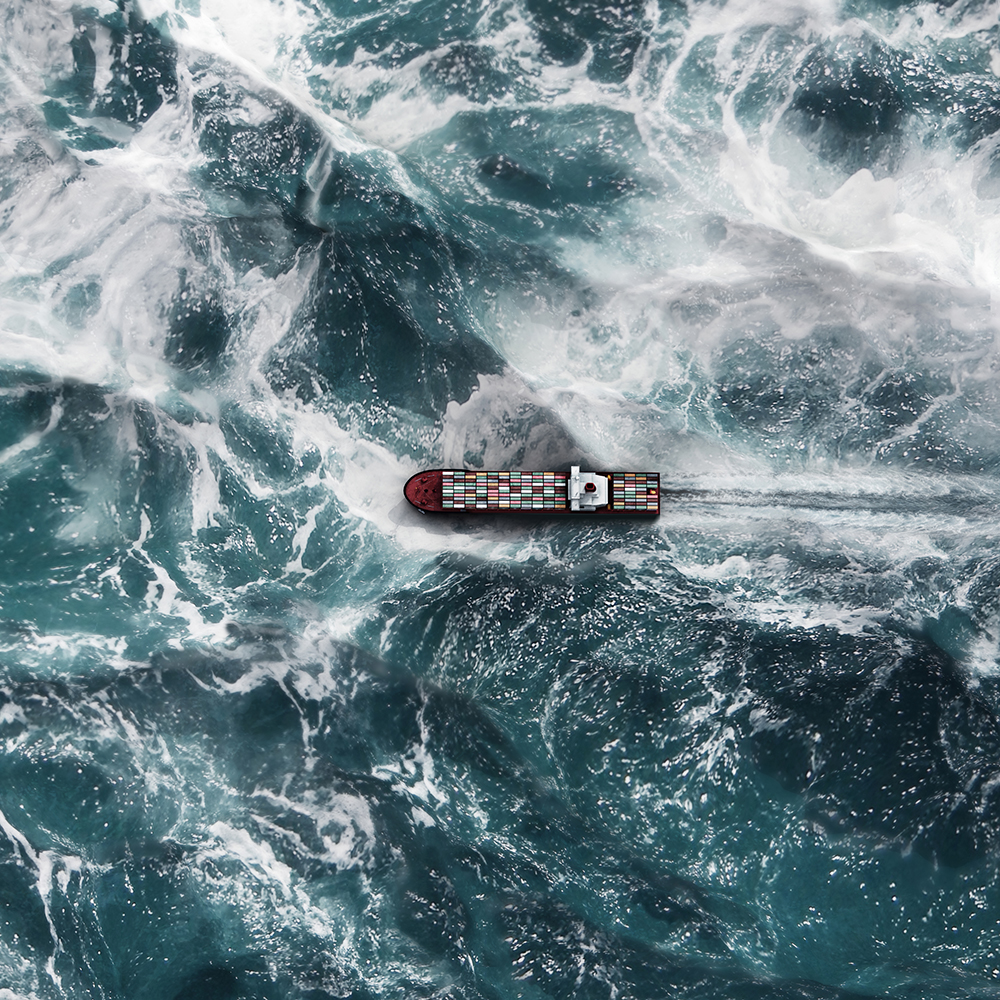Container ship on the sea fine art photography