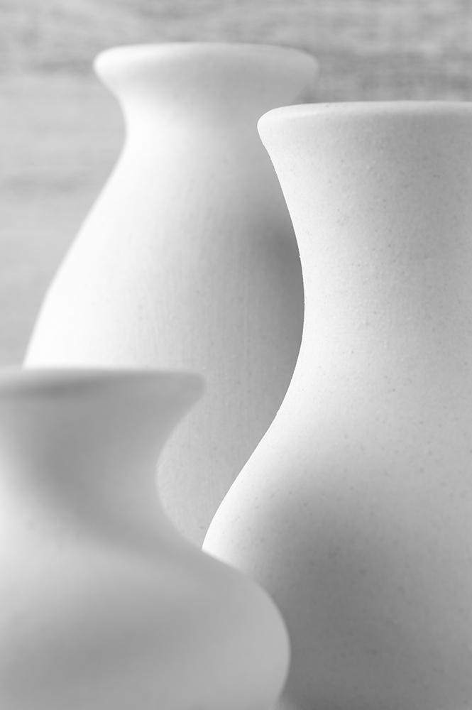 Unglazed ceramic vases fine art photography