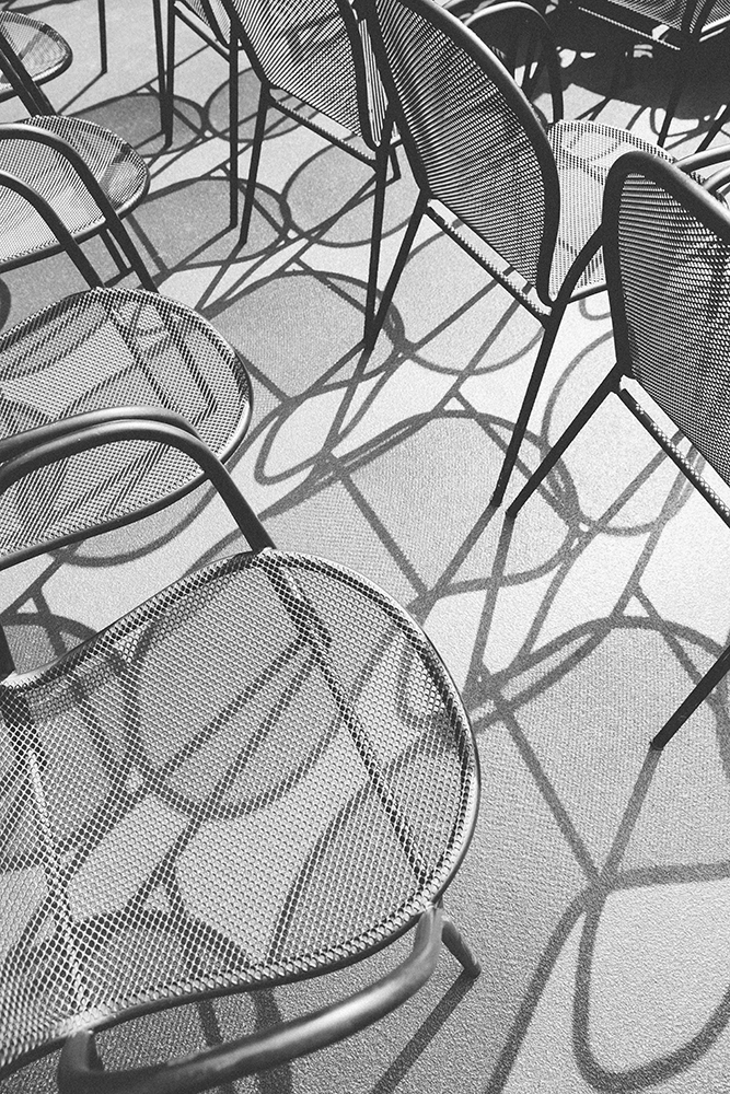 Chairs and shadows fine art photography