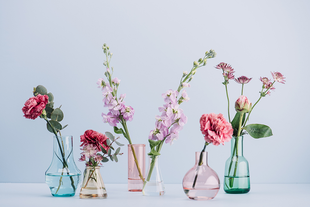 Flower arrangement in pastel fine art photography