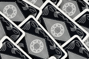 Close-up of patterns on playing cards