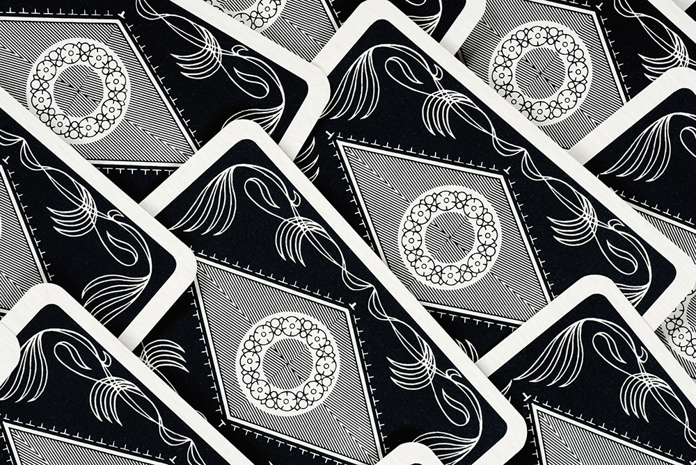 Close-up of patterns on playing cards fine art photography