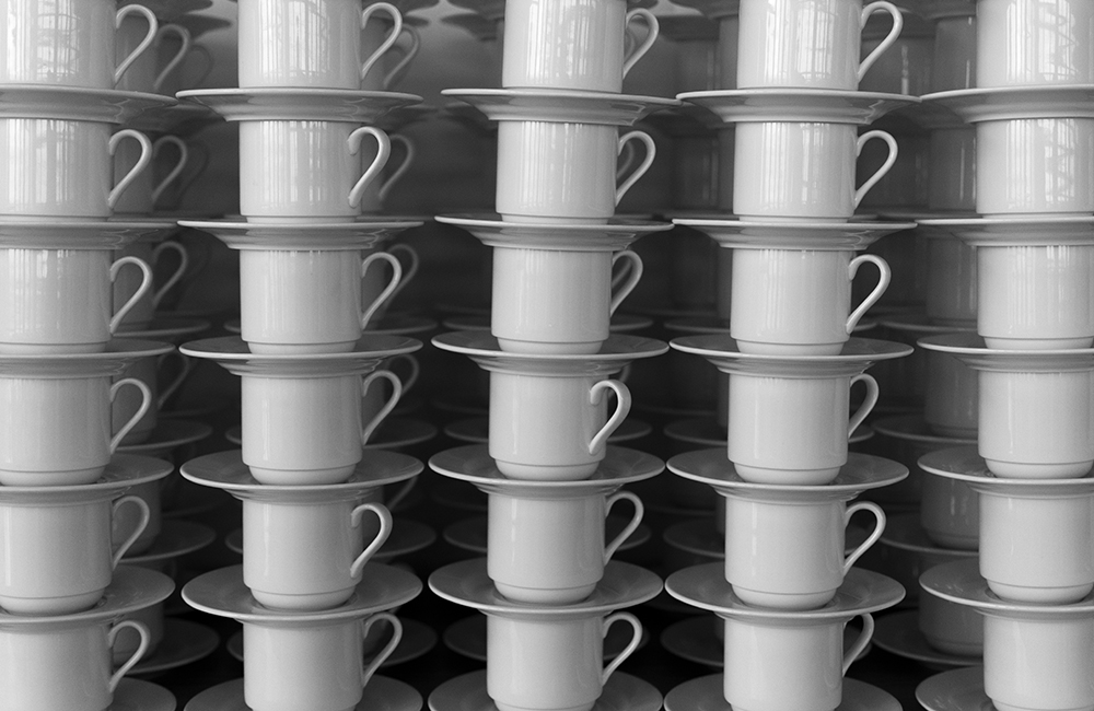 Full Frame Shot Of Cups And Saucers fine art photography