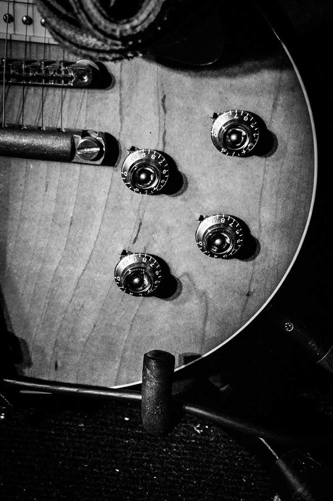 Close-Up Of Old-Fashioned Electric Guitar fine art photography