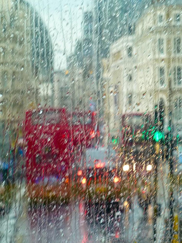 London street in rain fine art photography