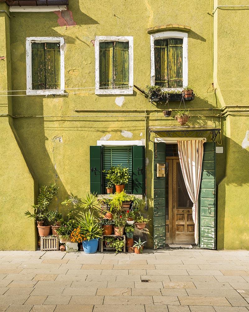 Colorful facade in Burano, Italy fine art photography