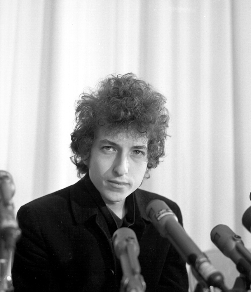 Dylan At A Press Conference In Los Angeles fine art photography